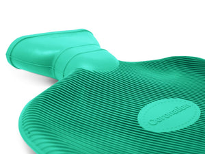Green Coronation 2 Litre plain sides Rubber hot water bottle