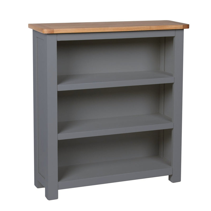 Aspen Dark Grey Oak Low Bookcase