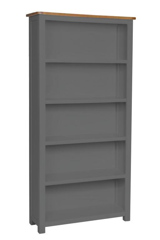 Aspen Dark Grey Oak Tall Bookcase