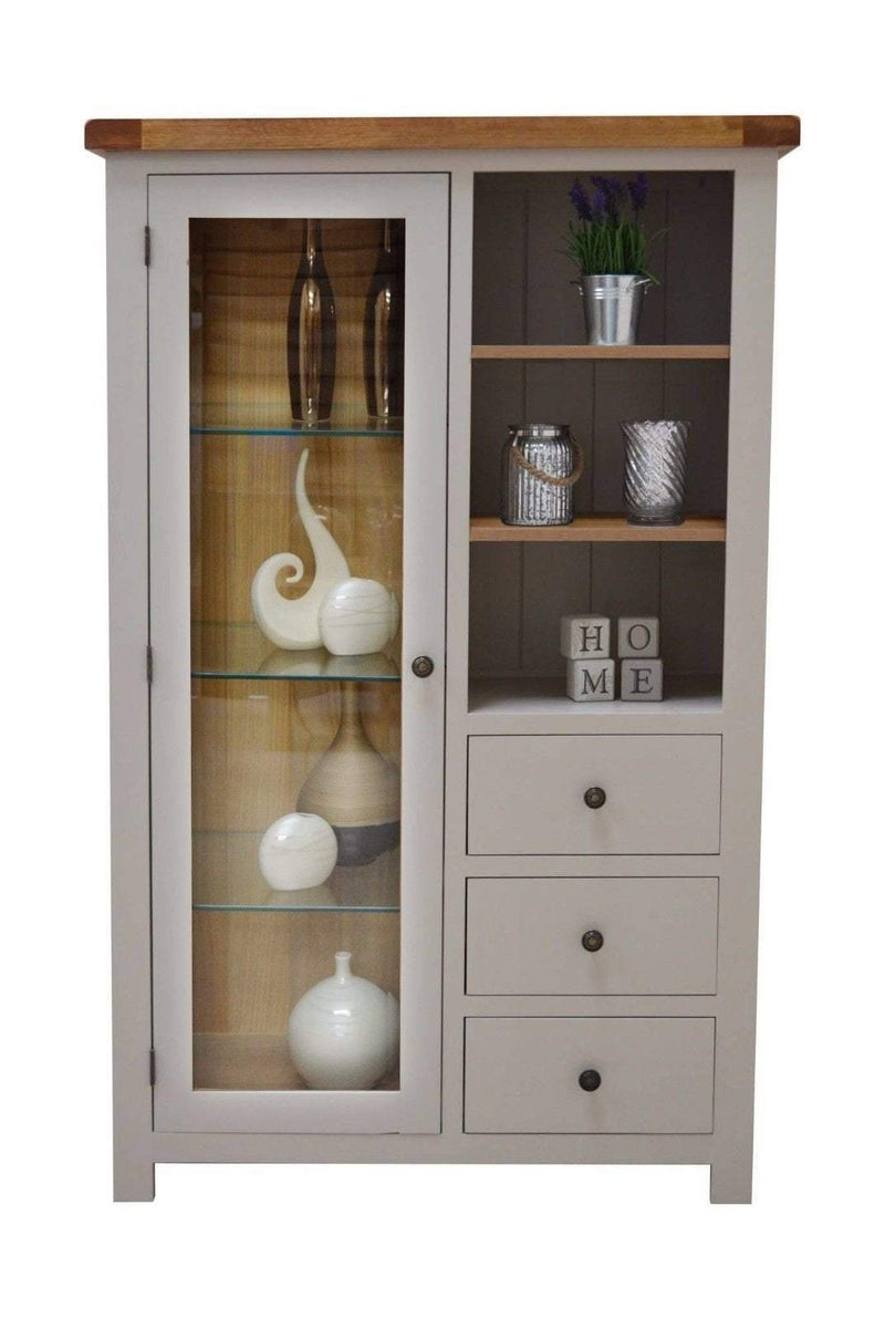 Bishop Painted Combination Display Cabinet