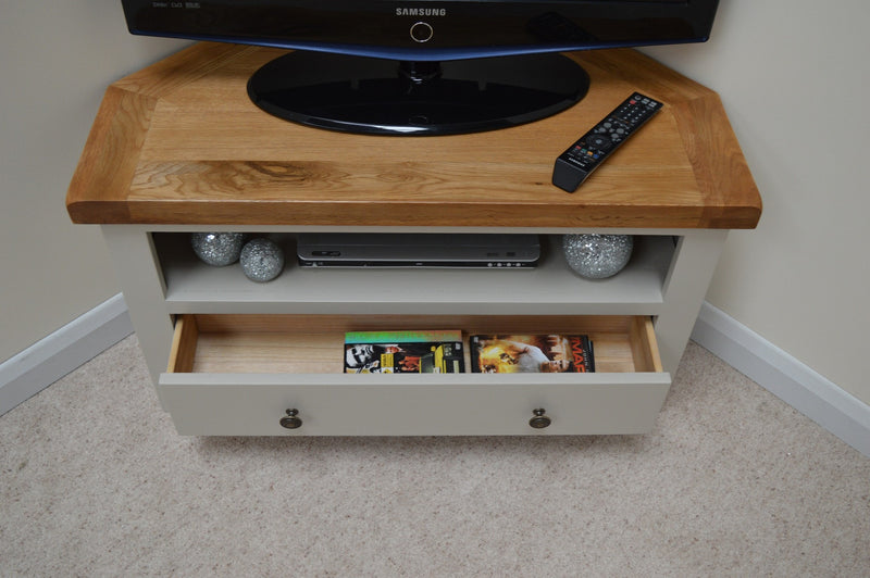 Bishop Painted Corner TV Stand / Entertainment Unit