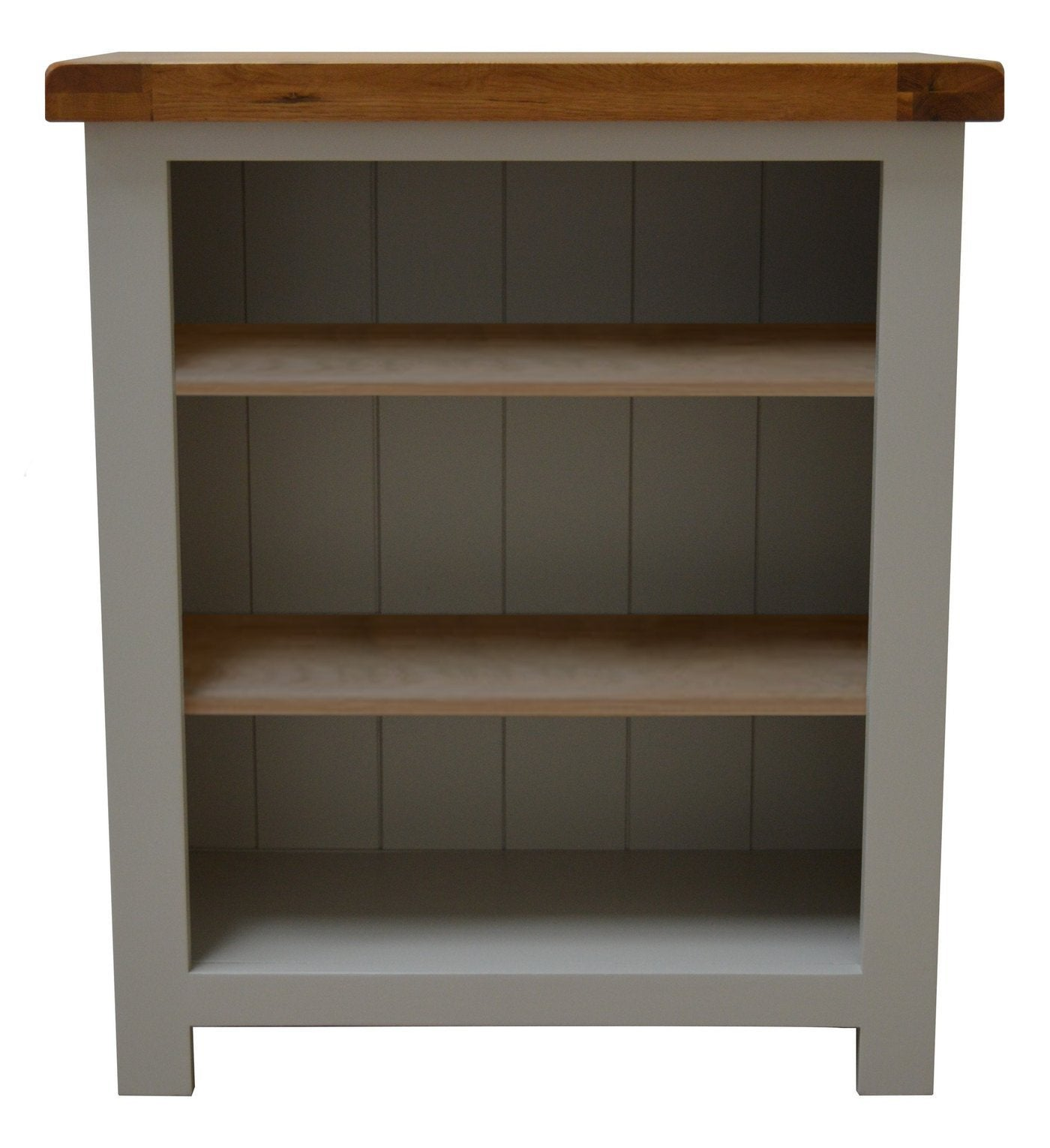 Bishop Painted Oak Low Small Bookcase