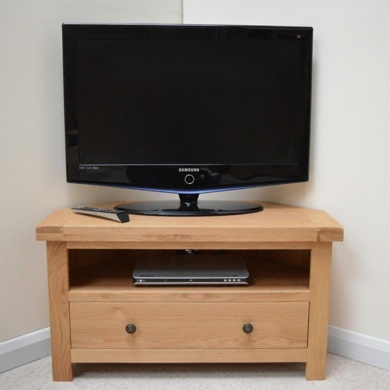 Canton Oak Corner T.V Unit