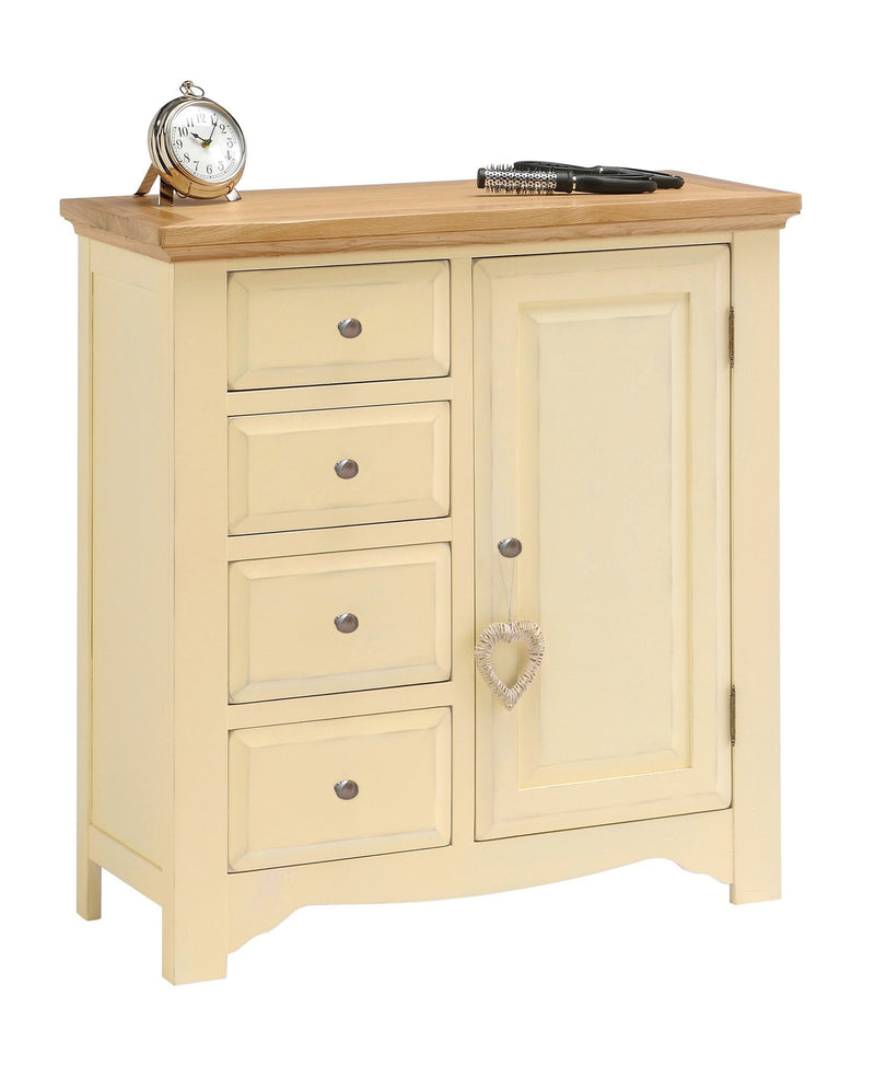 Oak Furniture Village Sale: Cornwall Painted 4 Drawer Linen Combination Cabinet
