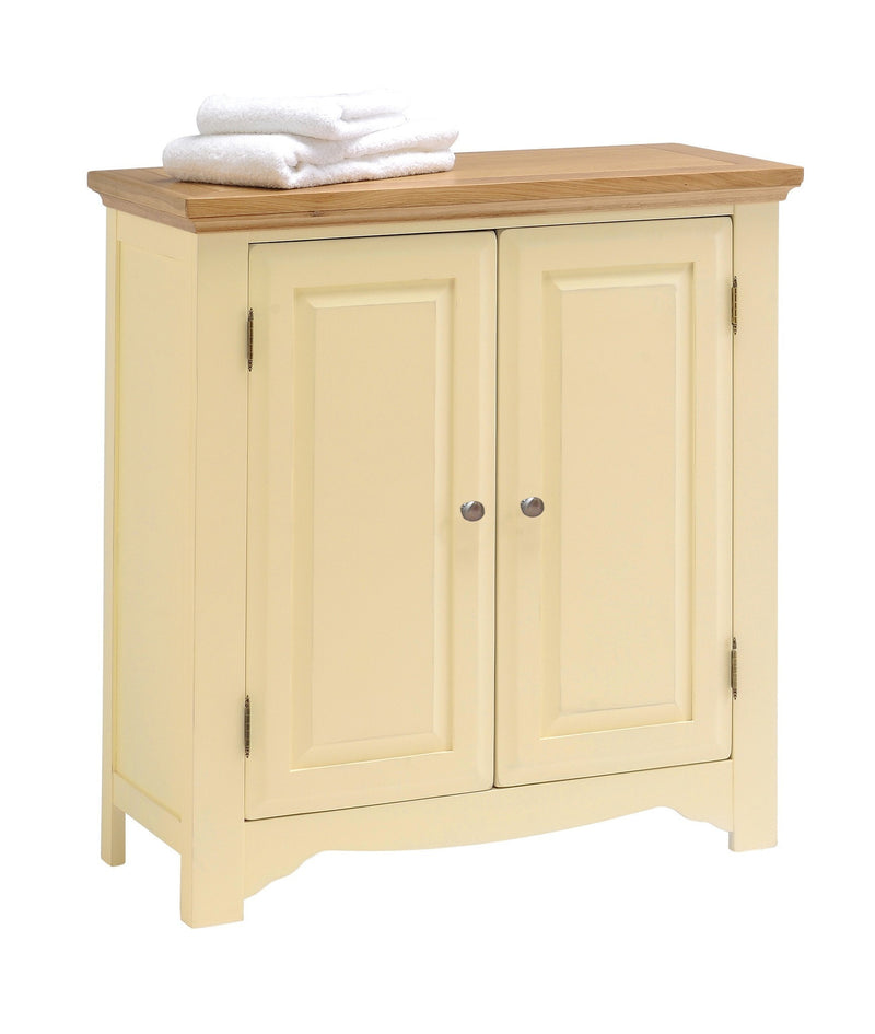 Cornwall Painted Oak 2 Door Linen Cabinet