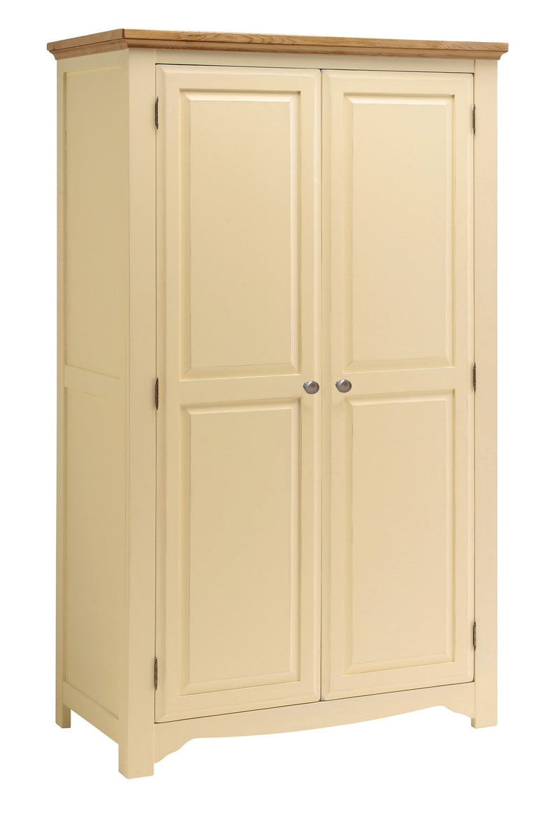 Cornwall Painted Oak 2 Door Wardrobe
