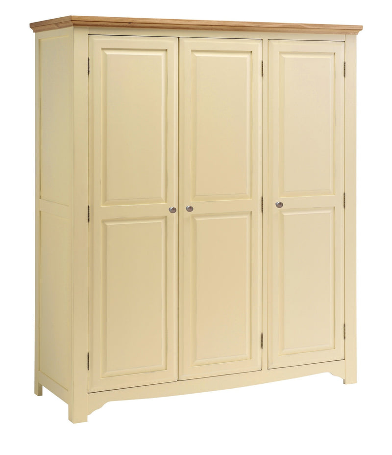 Cornwall Painted Oak 3 Door Triple Wardrobe
