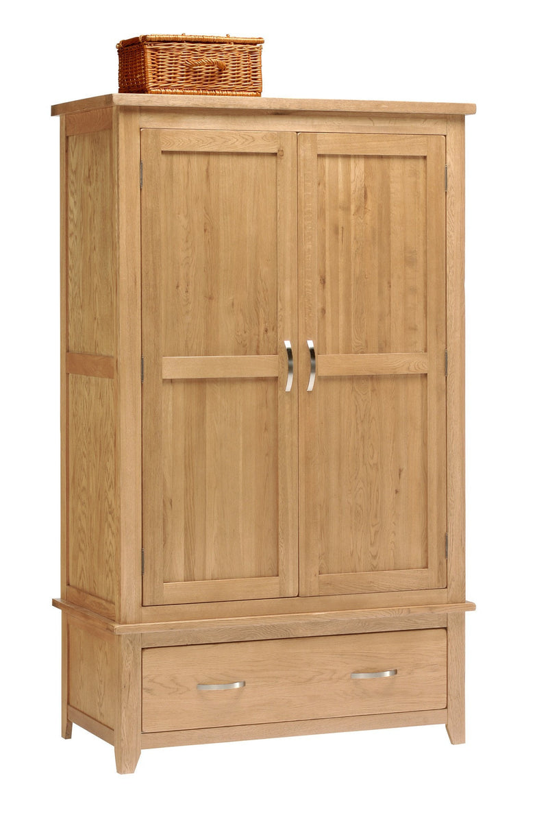 Hampshire Oak 2 Door Double Wardrobe