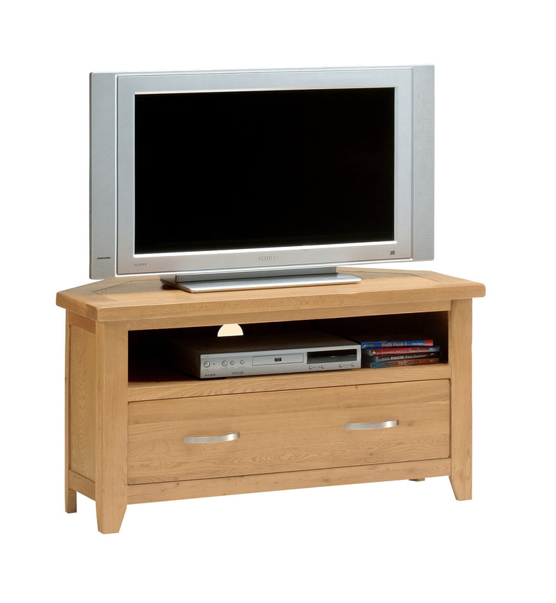 Hampshire Oak Corner TV Stand