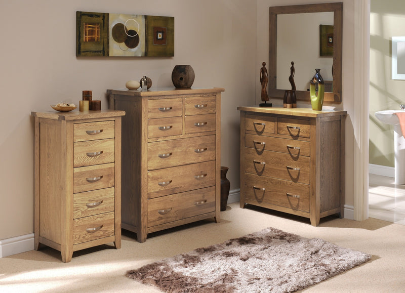 Hampshire Oak Tallboy Chest of Drawers