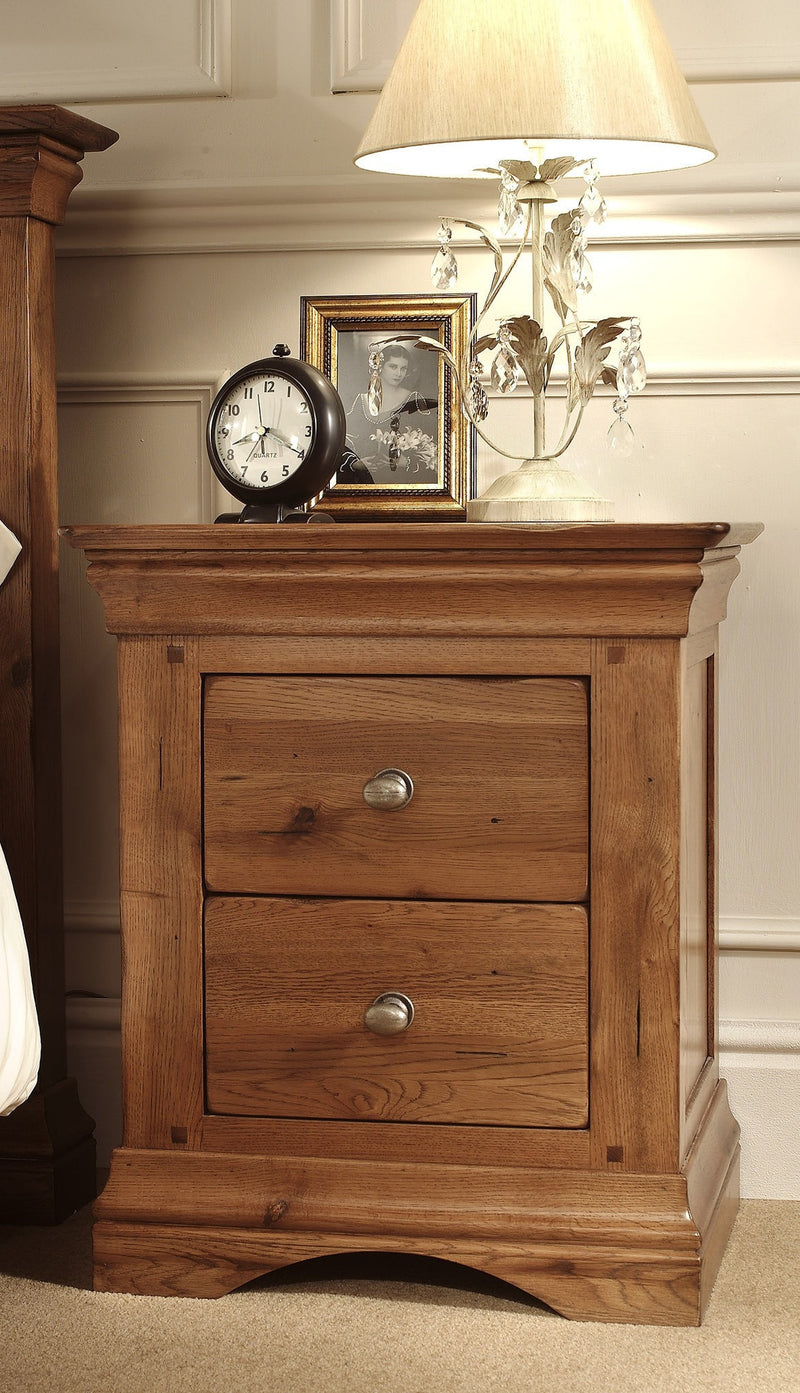 Hampton 2 Drawer Bedside Chest