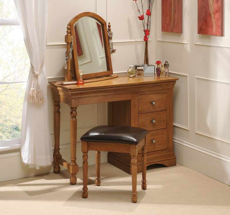 Hampton Oak Bedroom Stool