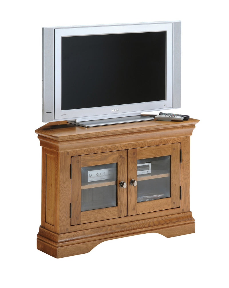 Hampton Oak Corner T.V Unit