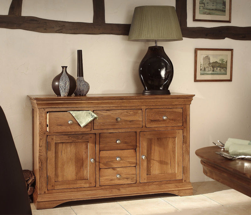 Hampton Oak Large Sideboard