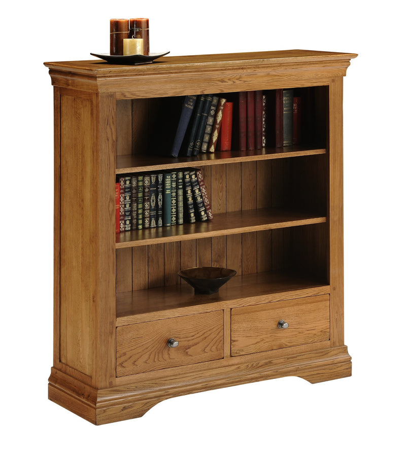 Hampton Oak Low Bookcase