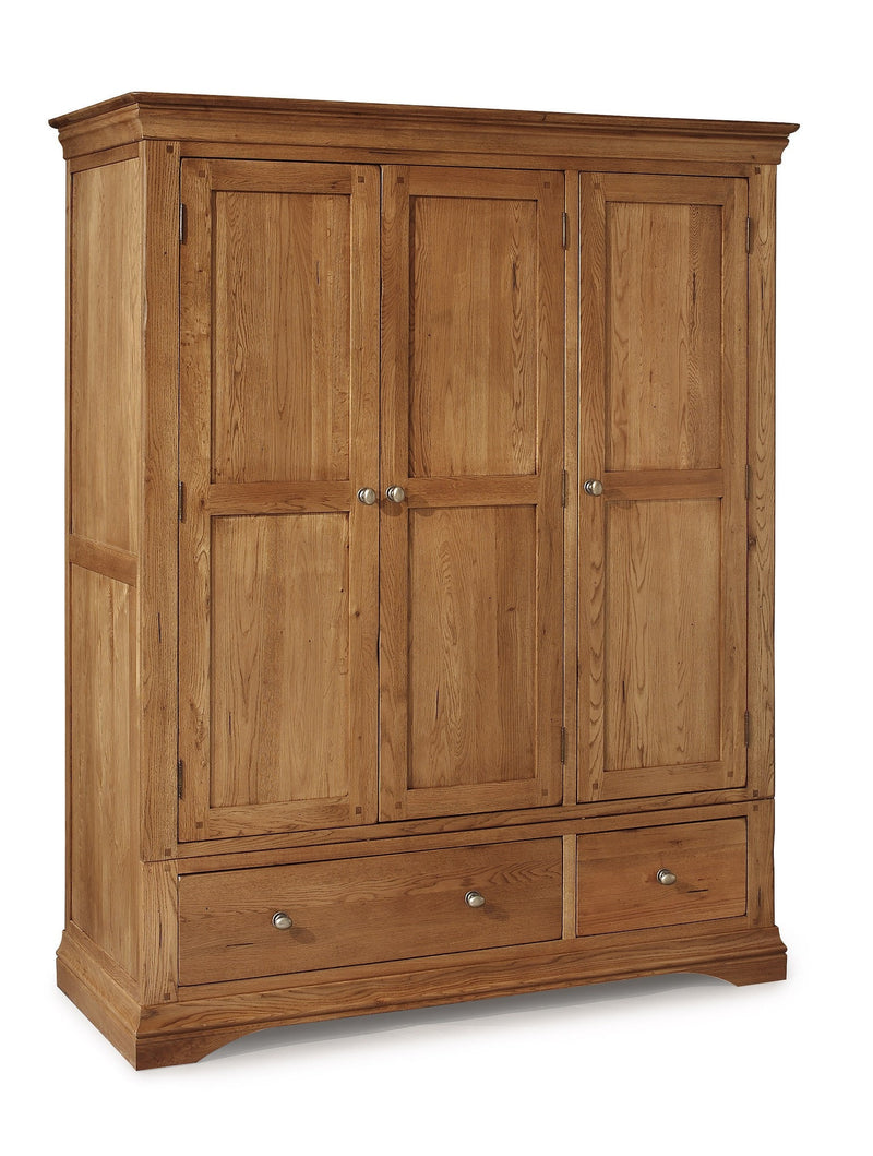 Hampton Oak Triple Wardrobe