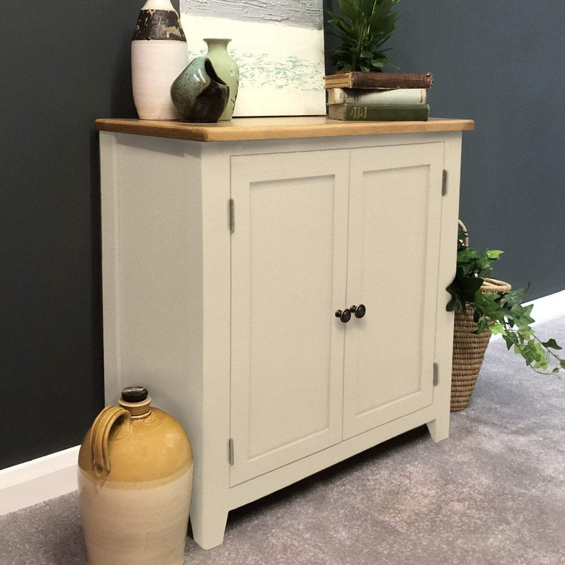 London Painted Oak Linen Cupboard