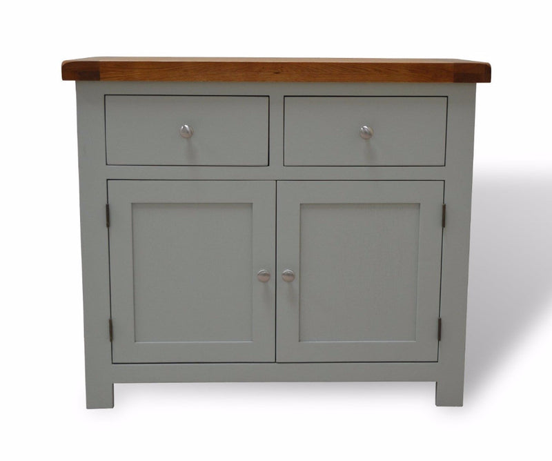 Milton Oak Small Sideboard Twin Cupboard / Twin Drawer