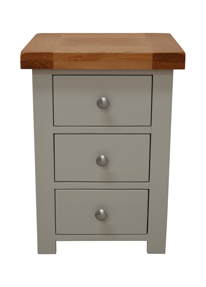 Milton Painted 3 Drawer Bedside