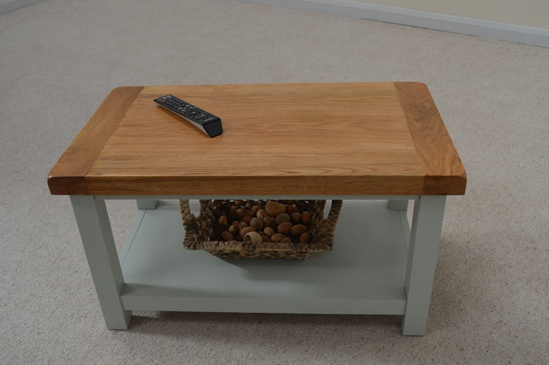 Milton Painted Coffee Table with Shelf