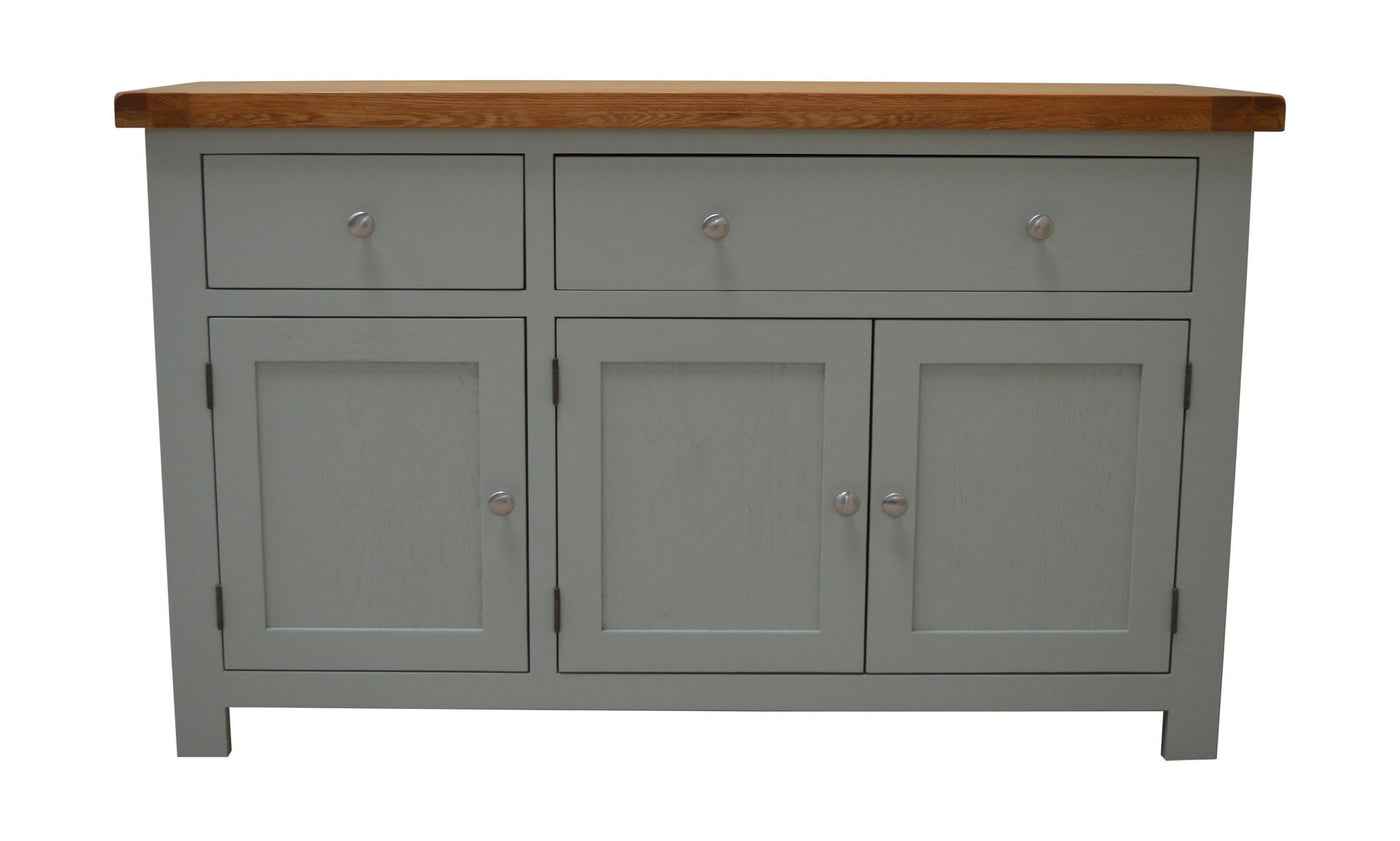 Milton painted large oak sideboard oak direct for Painted buffet sideboard