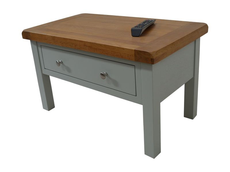 Milton Painted Oak Coffee Table With Storage Drawers