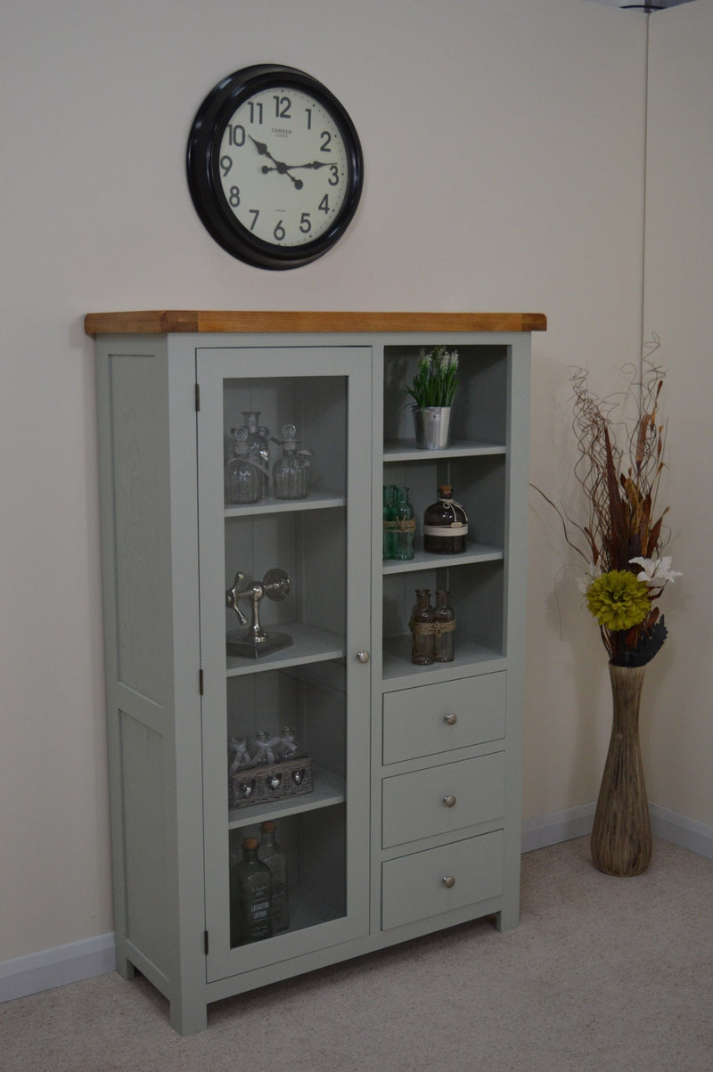 Milton Painted Oak Combination Glass Display Cabinet