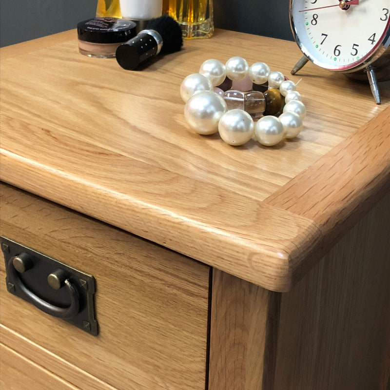 Newark Oak Bedside Chest of Drawers