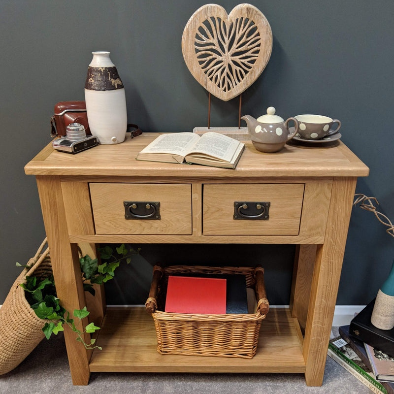 Newark Oak Console Table