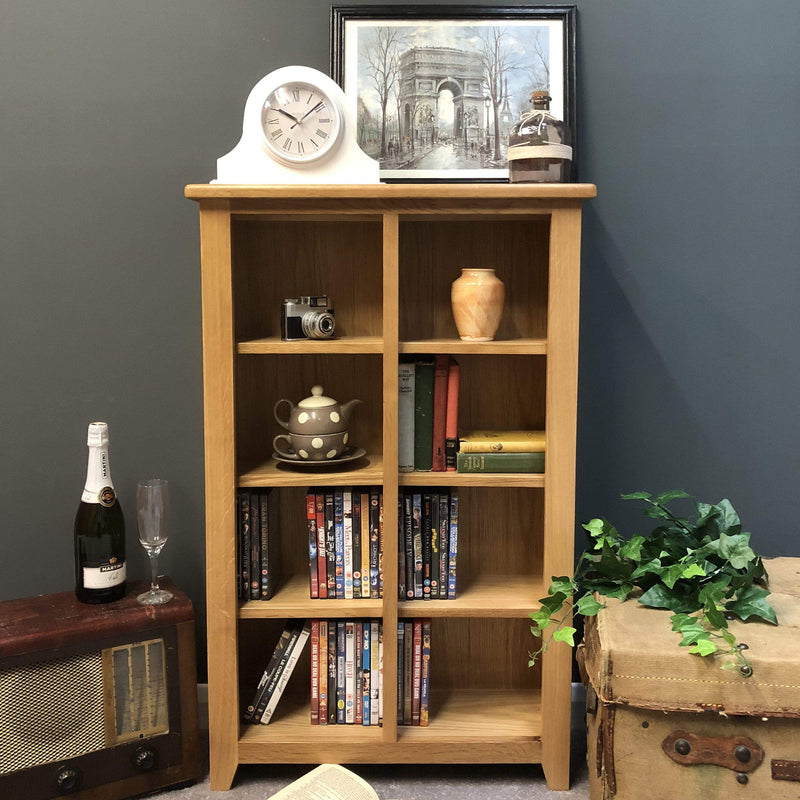 Newark Oak DVD Storage Unit / Bookcase