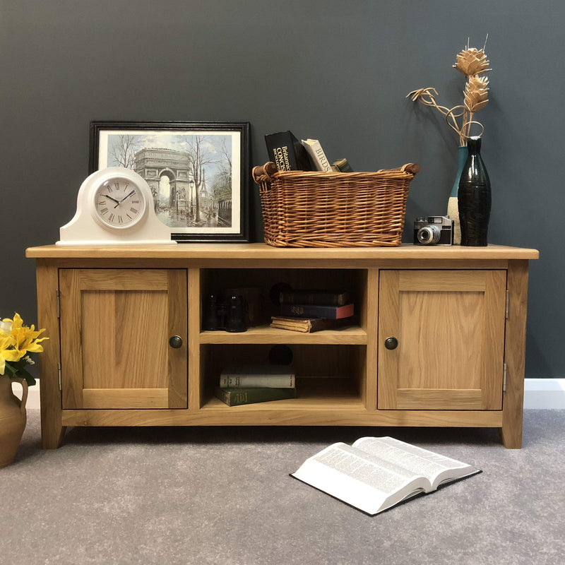 Newark Oak Large TV Stand