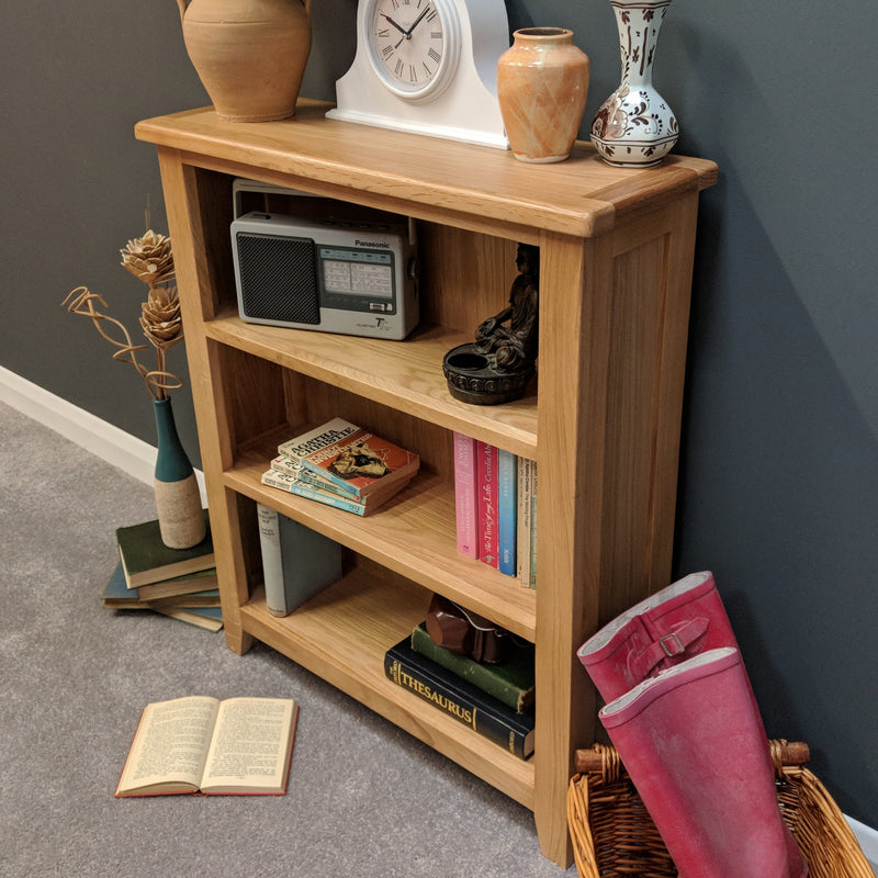 Newark Oak Low Bookcase
