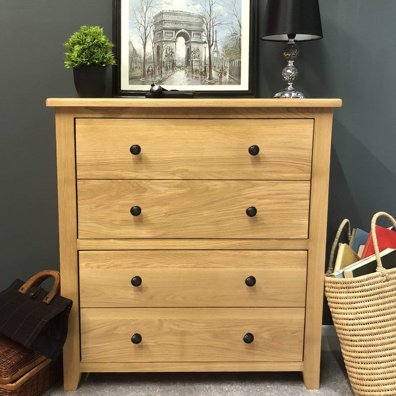 Newark Oak Shoe Storage Cupboard