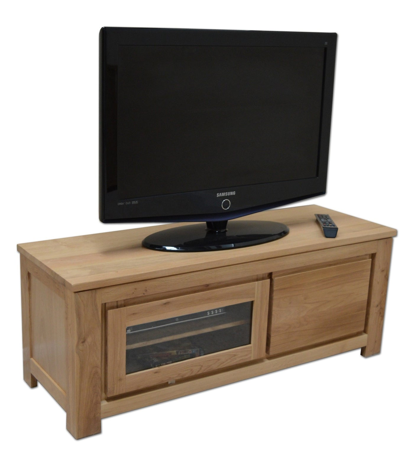 stanford plasma tv unit oak direct. Black Bedroom Furniture Sets. Home Design Ideas