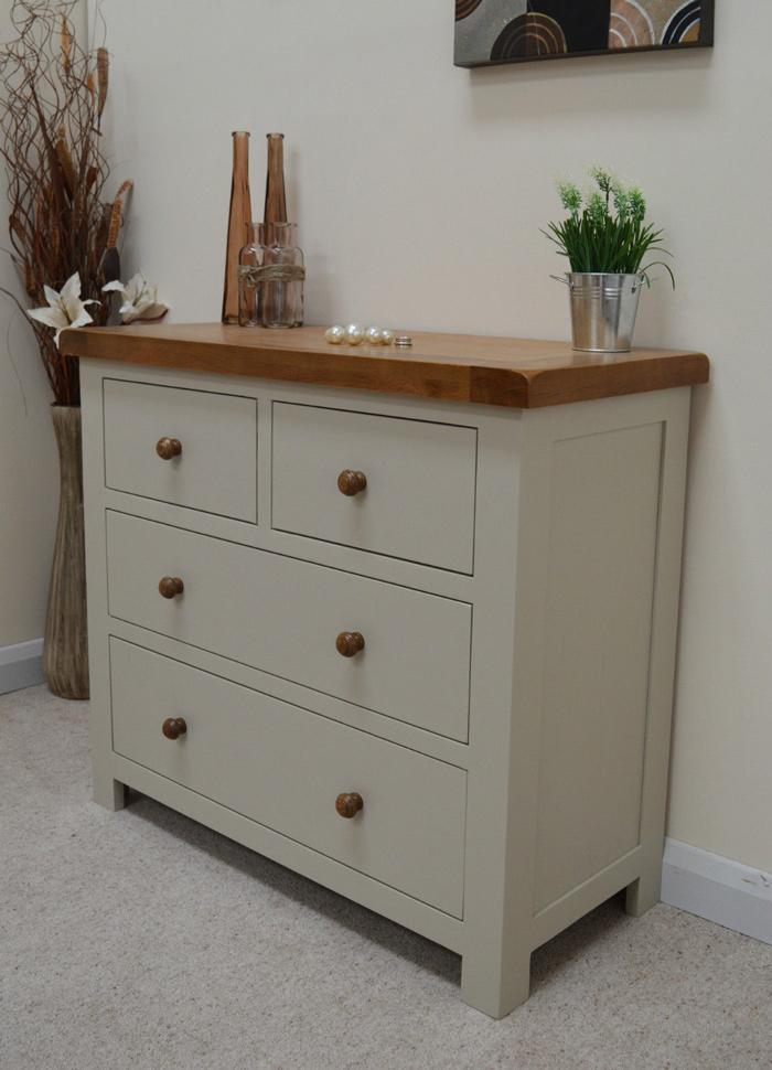 Thornton Painted 4 Drawer Chest of Drawers (2 Over 2)