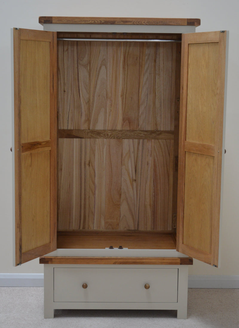 Thornton Painted Double Wardrobe with Storage Drawer