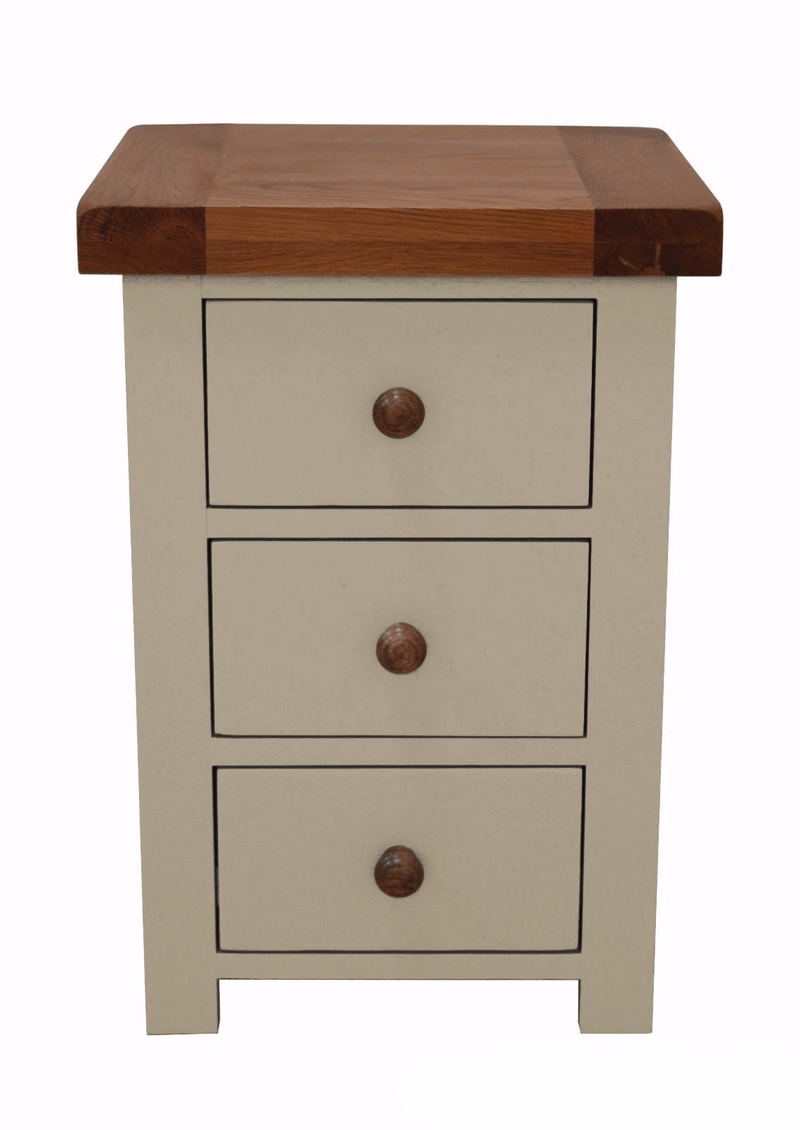 Thornton Painted oak 3 Drawer Bedside Chest