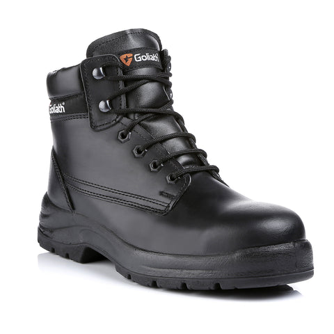 Black Leather Dual Density Sole Boot