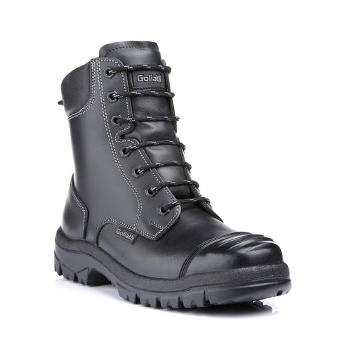 Groundmaster Black Safety Boot With Zip