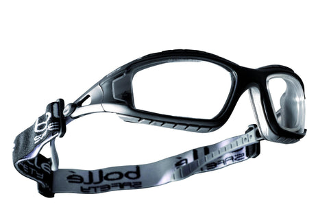 Bollé TRACKER Clear Safety Spectacles Complete With Strap