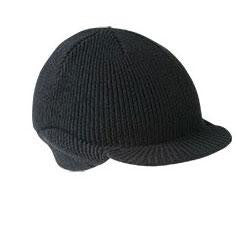 First Base Beanie Cap Reduced Peak - Black