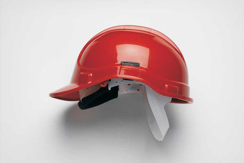 Red HC300NSB Unvented Safety Helmet