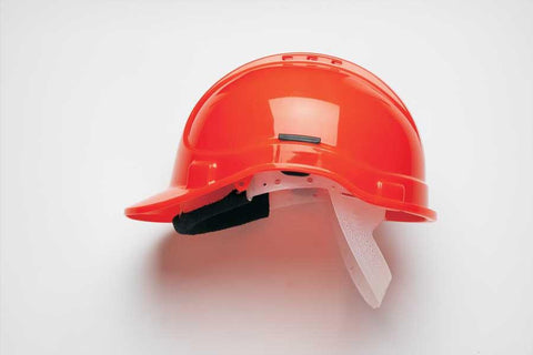 Orange HC300 Vented Safety Helmet Elite