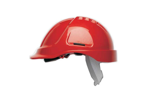 Red HC600 Unvented Safety Helmet