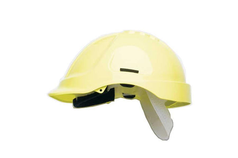 Yellow HC600 Unvented Safety Helmet