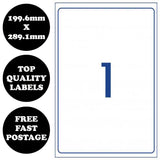 10 pages - A4 Self Adhesive Address Labels Laser Inkjet Print Mailing Sticker [1 Per Page]