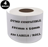 DYMO Compatible Labels 54mm x 101mm 220 Labels/Roll [99014]