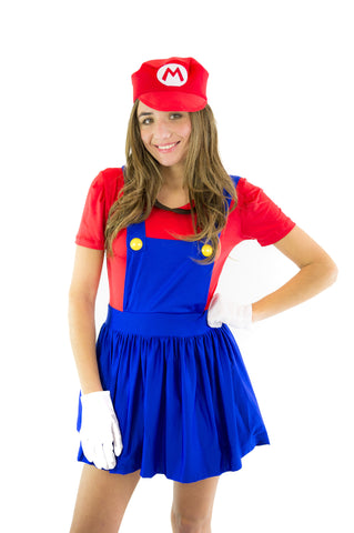 Super Mario Bros Mario&Luigi Womens Costume