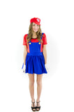 Super Mario Bros Mario Womens Costume