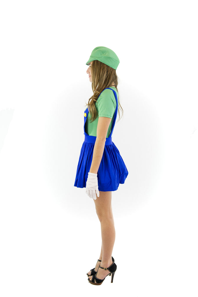 Super Mario Bros Luigi Womens Costume